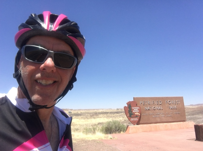 Ron w Petrified Forest Sign