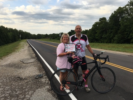 Heading out for day twenty-five of Pink Pedals 4 A Cure | Terry's Ride 2018.