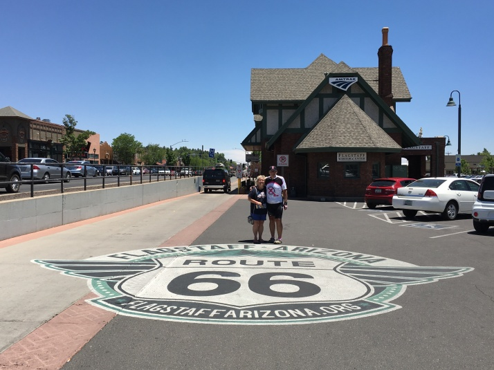 route 66 badge at amtrack