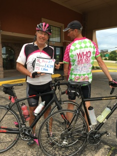 Steve's riding jersey begs the question ... Who Are You Riding For? Breast Cancer Research! #BCRF #GoAl #GoSteve