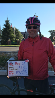 A chilly start to the thirty-fifth day of Pink Pedals 4 A Cure | Terry's Ride 2018.